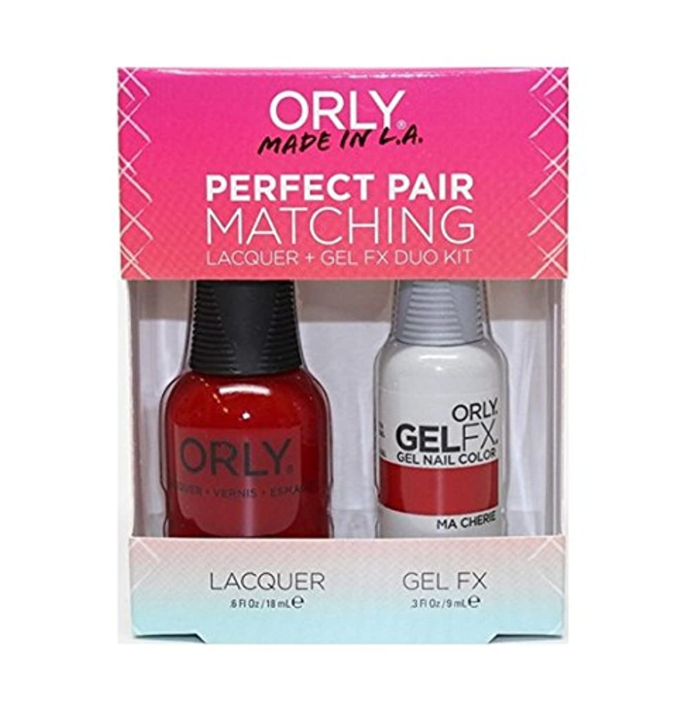 一杯聞きますマーベルOrly - Perfect Pair Matching Lacquer+Gel FX Kit - Ma Cherie - 0.6 oz / 0.3 oz
