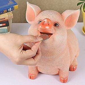 貯金箱 動物 樹脂 置物 貯金箱 豚置物 硬貨 コイン 小銭貯金箱 インテリア 誕生日プレゼント 子供のおもちゃ 十二生肖 室内装飾品 大容量 2000枚 豚 可愛い  誕生日祝い 新年祝い