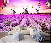 Dtcrzj ヨーロッパの牧歌的な花の壁画のリビングルームのソファーの背景の壁のステレオのシームレスな3 Dの壁紙、4,4,0,0、*、2,8,0、C、M