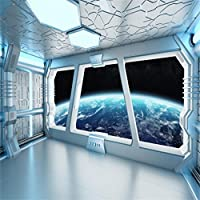 AOFOTO 宇宙船 廊下 宇宙ステーション 背景 宇宙 探検 サイエンスフィクション 宇宙船 惑星 写真背景 子供 男の子 女の子 大人 ポートレート 写真スタジオ小道具 ビニール壁紙