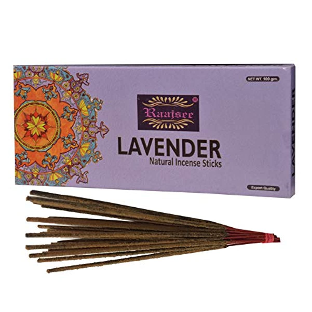 無心うなる苛性(Lavender) - Raajsee Lavender Incense Sticks 100 Gm Pack-100% Pure Organic Natural Hand Rolled Free From Chemicals-Perfect...