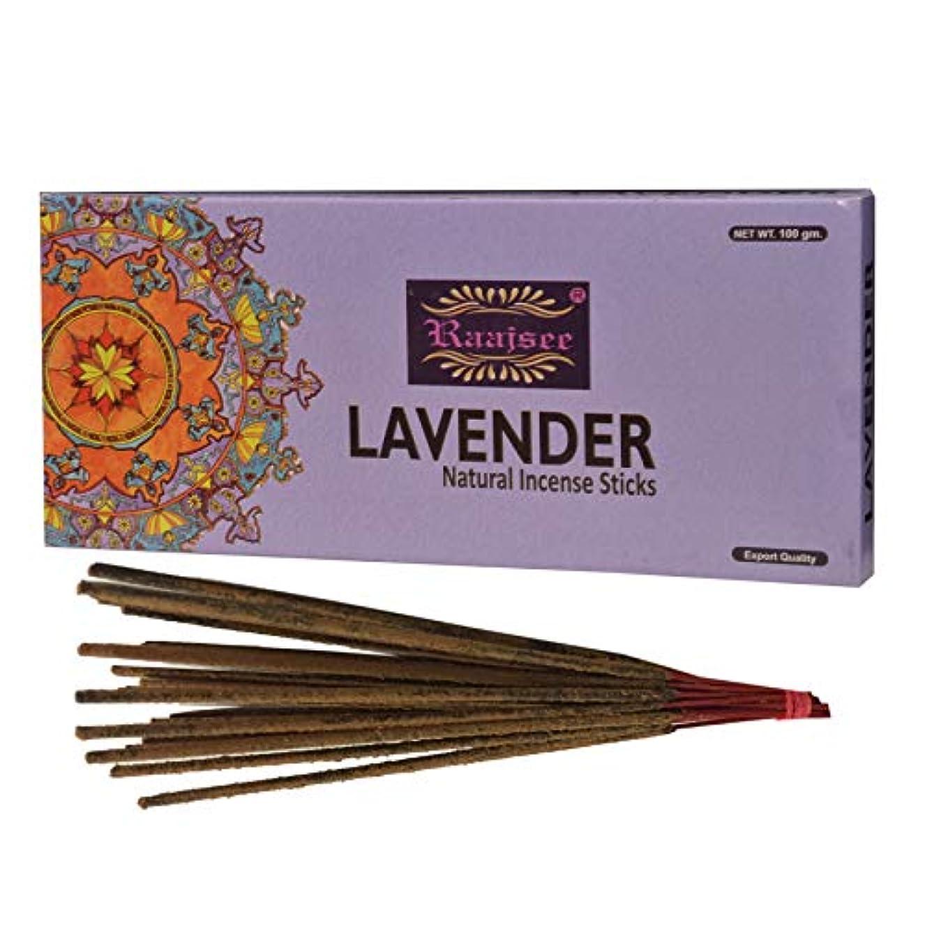 製油所腹交通(Lavender) - Raajsee Lavender Incense Sticks 100 Gm Pack-100% Pure Organic Natural Hand Rolled Free From Chemicals-Perfect...