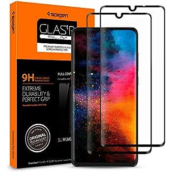 【Spigen】 (2枚入) Huawei P30 ガラスフィルム 6.1インチ用 全面保護フィルム 液晶強化ガラス 【フルカバー】 9H硬度 撥油加工 飛散防止 L38GL25748 (FC HD ブラック)
