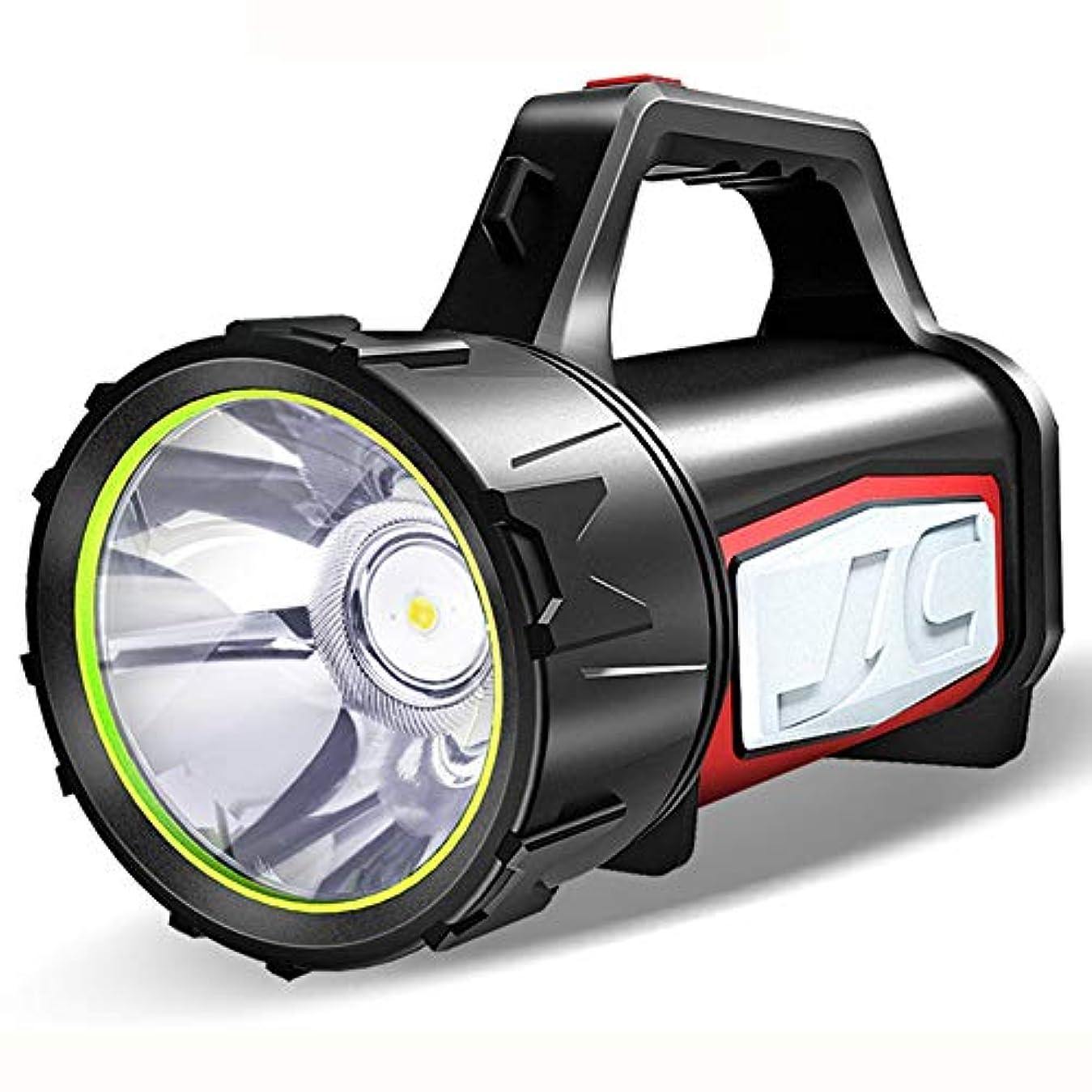 居間古風なバーグレア懐中電灯 充電式ポータブル屋外照明 LEDキャンプライト 両面照明 1500ルーメン警報灯