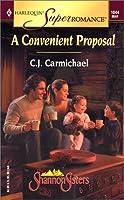A CONVENIENT PROPOSAL - THE SHANNON SISTERS (Harlequin Superromance)