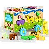 RaiFu 積み木 ビルブロック 多機能 木製 ハンマーボックス 玩具 教育 子供ギフト