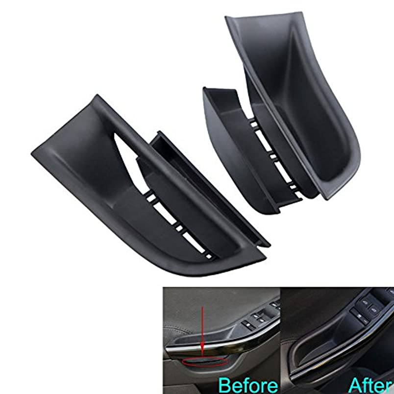 病んでいるローラー国民Jicorzo - For Ford Focus 2011-2016 Car Inner Door Armrest Box Storage Holder Container Cover 2PC ABS Car Styling...