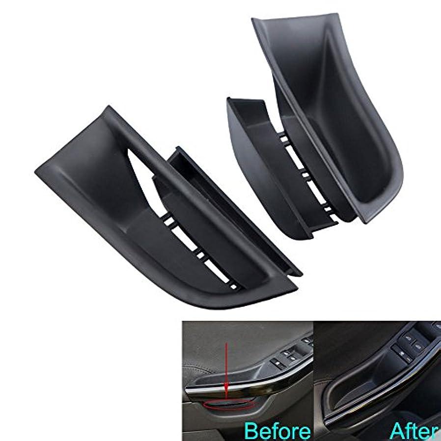 天国塩辛い朝の体操をするJicorzo - For Ford Focus 2011-2016 Car Inner Door Armrest Box Storage Holder Container Cover 2PC ABS Car Styling...