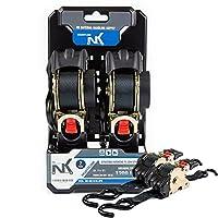 "NK nk-rr Pro格納式ラチェットタイダウンストラップ( Pack of 2) 1"" x 10"" 4 Sets NK-RR1X10-4PK"