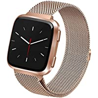 Linxure Fitbit Versa Milanese Strap Band Small - Rose Gold