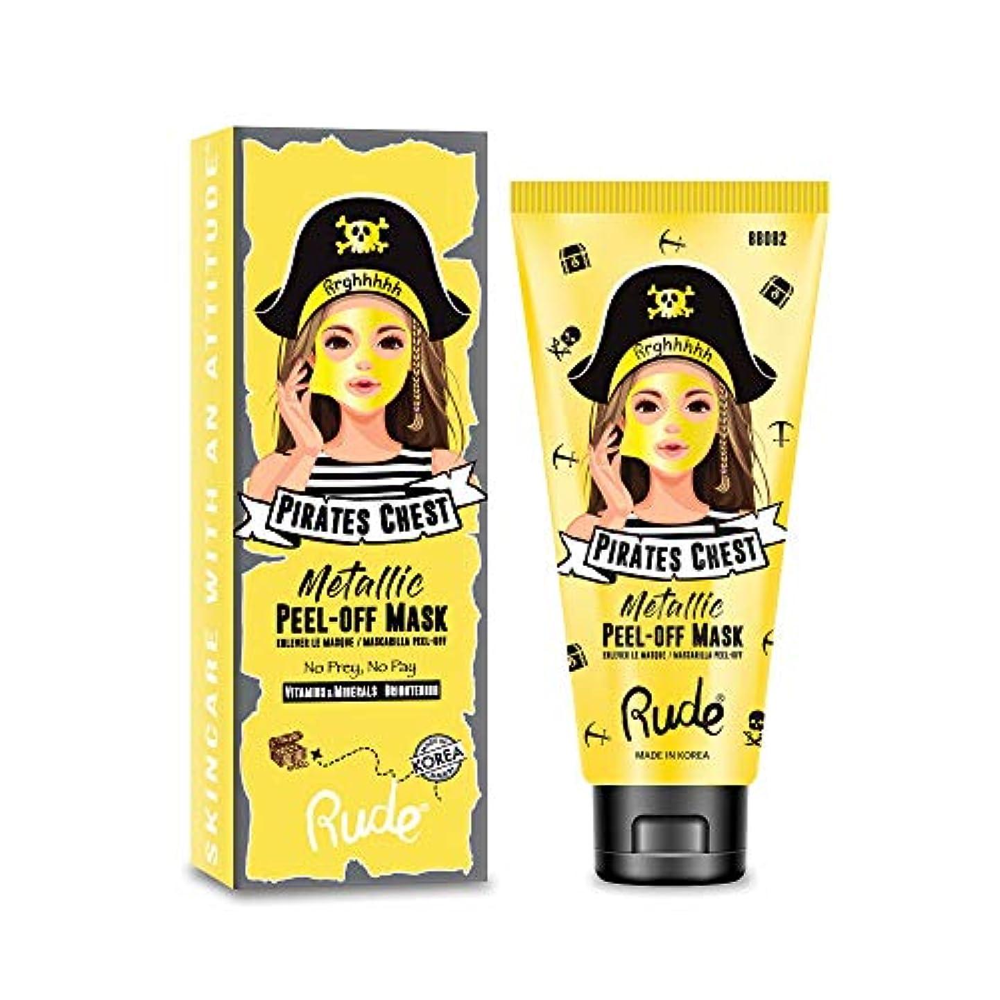 プラスチック拳排他的(6 Pack) RUDE Pirate's Chest Metallic Peel-off Mask - No Prey, No Pay (並行輸入品)