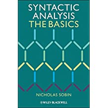 Syntactic Analysis - the Basics