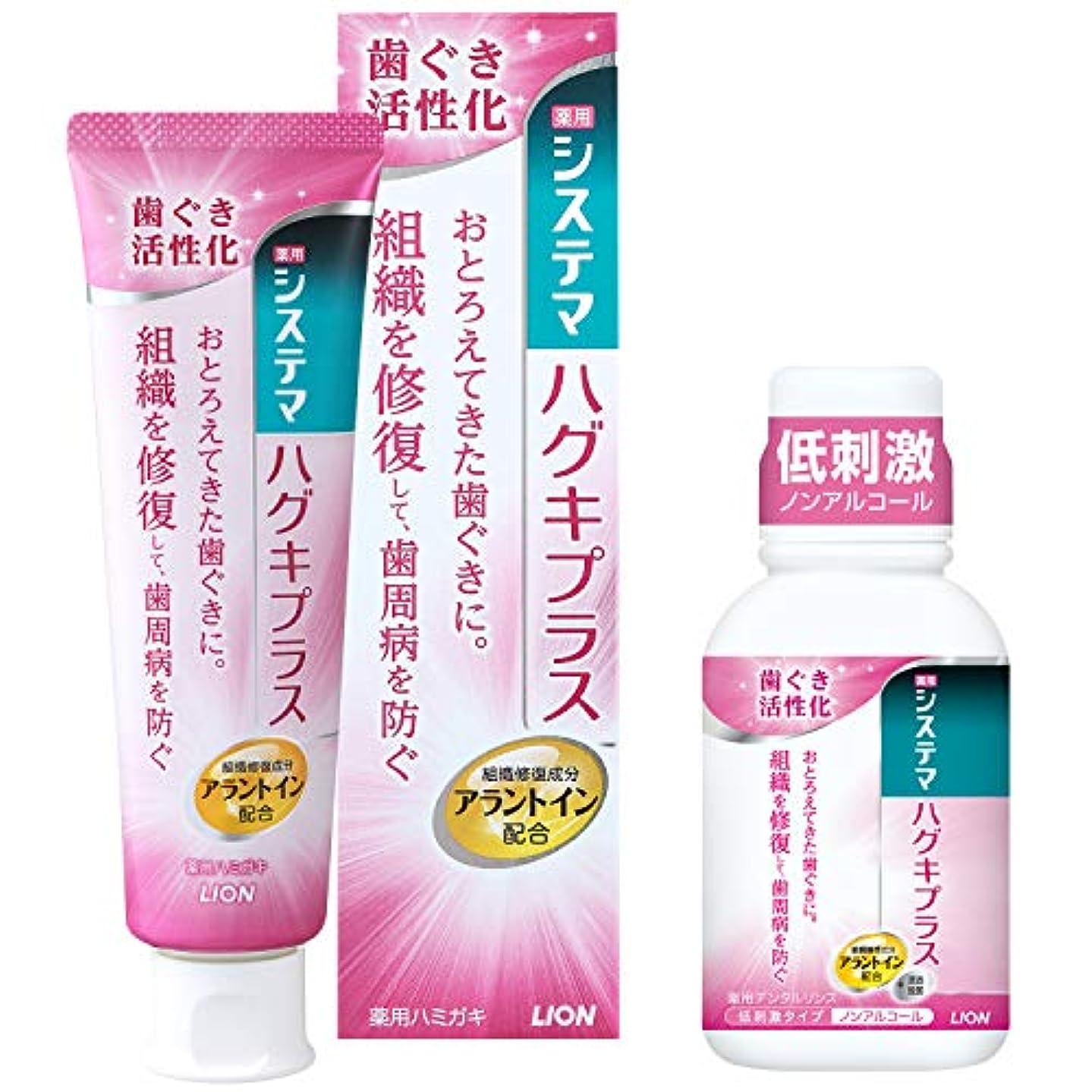 【Amazon.co.jp限定】[医薬部外品]システマ ハグキプラス ハミガキ 90g+ミニリンス 80ml