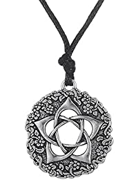 Wiccan Pentacle Of The Goddess WiccanジュエリーPagan五角形ネックレス
