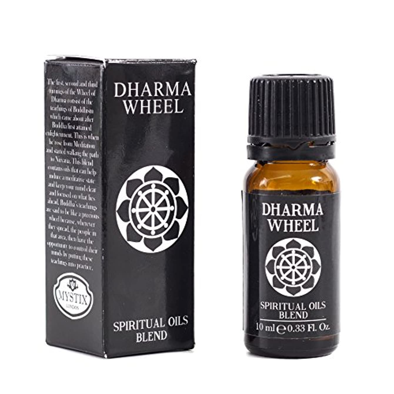チャーミング石炭スロットMystic Moments | Dharma Wheel | Spiritual Essential Oil Blend - 10ml