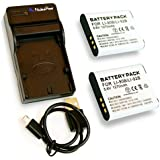 【 6ヶ月保証 】 オリンパス LI-90B / LI-92B ×2個 + USB充電器のセット 互換バッテリー OLYMPUS Tough TG-1 / STYLUS TG-2 Tough XZ-2 SH-50...Nucleus Power製 (バッテリー2個 + USB充電器)