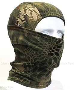 Dhana Style 3Way バラクラバ アーミー 目だし帽 ・ タクティカル カモフラージュ フェイスマスク / ミリタリー ヘッドウェア ★ サバイバルゲーム・自転車・バイク・アウトドア BXB (グリーン)