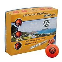 LEZAX(レザックス) ゴルフボール Volkswagen ゴルフボール 1ダース(12個入り) VWBA-9783 オレンジ