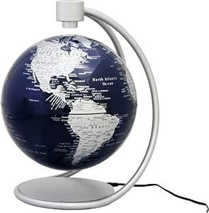 マグネティック・フロート地球儀 シルバー 20cm