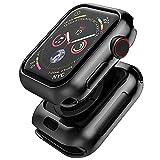Apple watch 5 44mm   Apple watch 4 44mm ケース TopACE アップルウォッチ5 44mm メッキ加工 メタリックな色 TPU ソフトケース 落下防止 Apple watch series 5 44mm 対応(ブラック)