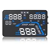 近未来型 HUD 車載 ヘッドアップディスプレイ 自動車 速度表示 速度警報装置 温度 水温 電圧 GPS 5.5インチ シガーソケット Q7