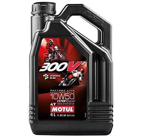 MOTUL (モチュール) 300V2 4T 10W50 バイク用エンジンオイル 100%化学合成(エステルコア) 4L [並行輸入品]