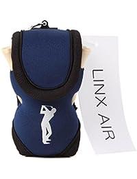 (LINX AIR) ゴルフポーチ ボールケース [ 正規品 ] ボール入れ 軽量 ティー付き 全5色
