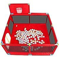 赤ちゃんPlaypen子供のゲームは、バスケットフェンスキッズアクティビティセンターを撃つ (色 : Red)