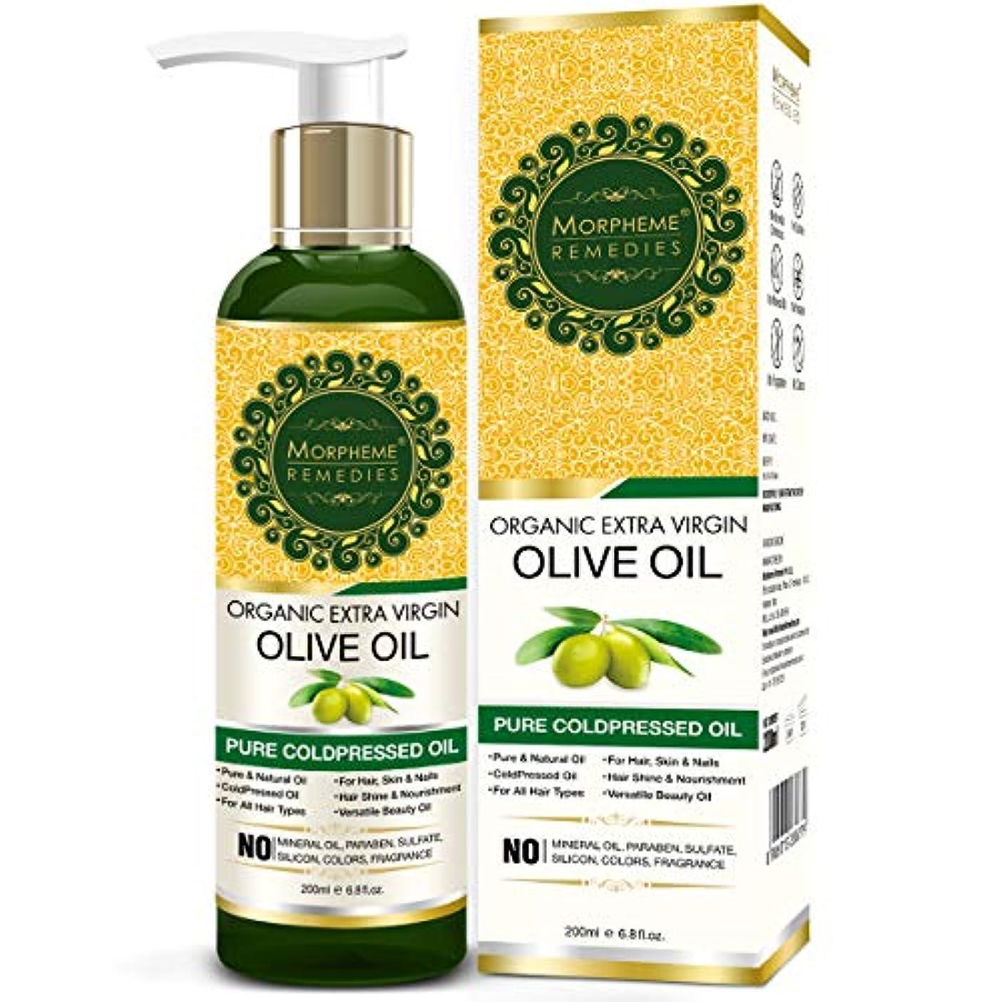 マイルド周辺王子Morpheme Remedies Organic Extra Virgin Olive Oil (Pure ColdPressed Oil) For Hair, Body, Skin Care, Massage, Eyelashes...