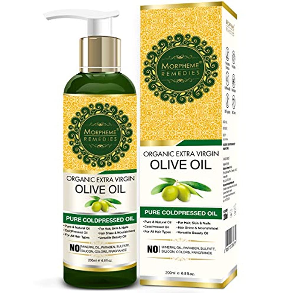 シーボードファブリック保全Morpheme Remedies Organic Extra Virgin Olive Oil (Pure ColdPressed Oil) For Hair, Body, Skin Care, Massage, Eyelashes...