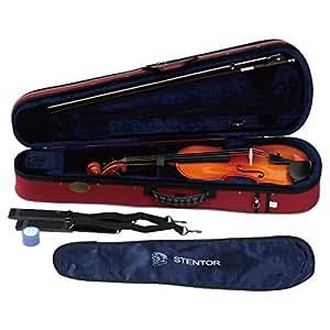 STENTOR バイオリン アウトフィット 1/4サイズ 適応身長115~125cm ハードケース、弓、松脂付 SV-180 1/4