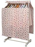 ハンガーラックカバー 花柄 ラックの衣類をスッキリカバー まとめてカバーできるので便利! 厚手不織布製