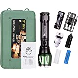 WOLFTEETH 1800Lm LED T6 Flashlight Super Bright Rechargeable Torch for Camping Hiking Emergency Use 4050PN