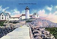 Gloucester、マサチューセッツ州–View of Easternポイント灯台 16 x 24 Giclee Print LANT-26932-16x24