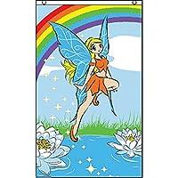 国旗 妖精 フェアリー 虹 レインボー 特大フラッグ【ノーブランド品】
