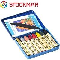 Stockmar(シュトックマー社) 蜜ろうクレヨン スティッククレヨン 8色 缶 アートカラー【ST32122】