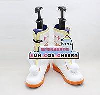 【サイズ選択可】コスプレ靴 ブーツ Z3-0055 銀魂 神楽 かぐら 女性22.5CM
