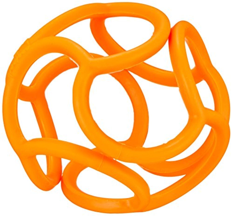 ボリィ はじめてボール 歯がため にぎって かじって ひっぱって 安心素材 オレンジ