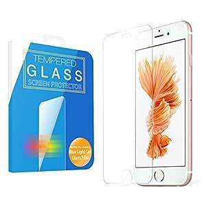 MS factory iPhone6s ガラスフィルム ブルーライト カット 90% iPhone 6s ブルーライトカット 強化ガラス フィルム アイフォン6s 保護フィルム 3D Touch 対応 90日 保証 FD-IP6S-BLUEGLS-AB