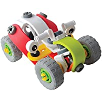 TurnRaiseねじ止めブロック 立体パズル 組み立て おもちゃ オフロードバイク モデル 男子 プレゼント 96ピース
