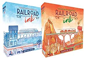Railroad Ink: Red and Blue Game