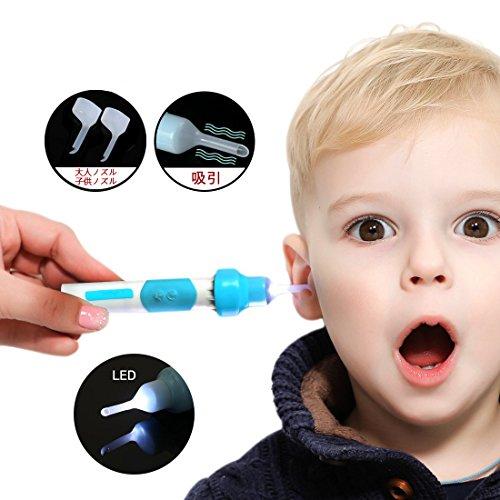 Newfeel【新型】2018 電動 耳かき 耳掃除機 LEDライト付き 耳あか 掃除 振動&吸引式...