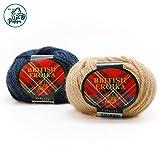 ■秋冬毛糸 パピー ブリティッシュエロイカ 125(オフ白)/JAN4961383032254