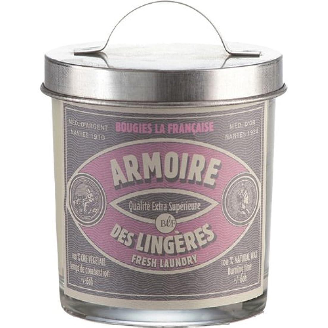 奇跡的な時有効なブジ?ラ?フランセーズ アーティザンリッドキャンドル フレッシュランドリー 燃焼時間約40時間 フランス製
