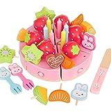 マザーガーデン おままごと うさももちゃん デコレーション ケーキ セット 〔木製 おもちゃ〕 バースデー フルーツ 998-01286