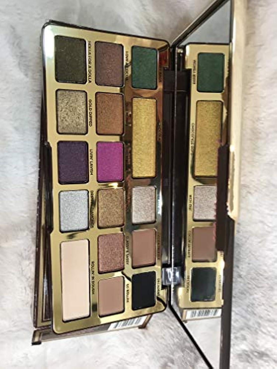 小麦粉階段抑圧TOO FACED Chocolate Gold Metallic/Matte Eyeshadow Palette