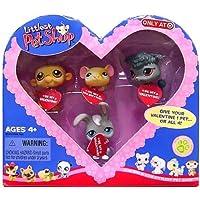 Littlest Pet Shop (リトルペットショップ) Valentine Exclusive Monkey Mouse Poodle Bunny(並行輸入)