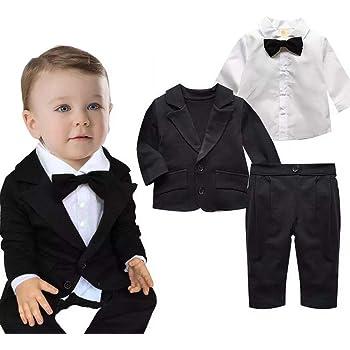 30f3337520313 Ymgot ベビー フォーマル 男の子 スーツ 3点セット 子供服 長袖 七五三 入学式 卒業式