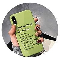 iPhone 6 6SのためにiPhone X、手紙のためのiPhone 6 6S 7 8プラスX XR XSマックス電話ケースかわいい漫画の手紙抹茶グリーンハードPC電話ケース、プラス