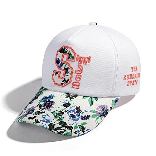 (シッギ)Siggi おしゃれ 可愛い コットン ポニーテール フリーサイズ サイズ調節 スナップバック 大きいサイズ つば広 野球帽 ベースボールキャップ アーミーキャップ キャップ 帽子 レディース 春夏 uvカット アウトドア 釣り 旅行 ホワイト